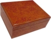 Humidor, Cherry,  25 -ct with Humidifier, 12 1/4 x 8 x 5