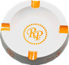 Rocky Patel  Ashtray, White with orange logo